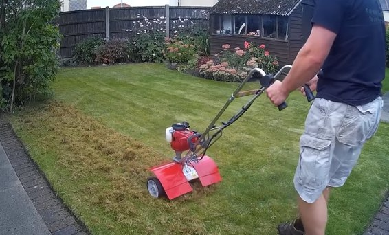 how to use a tiller on grass