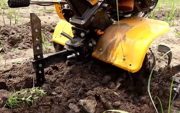 remove weed using garden Tiller
