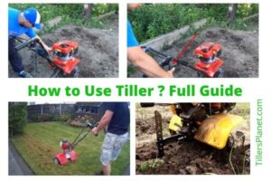 How to Use A tiller for weed, grass and level the ground?