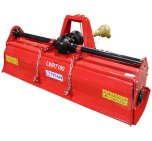 "Titan Distributors Inc. 72"" Lightweight Rotary Tiller Category 1 & 2 3-Point Hitch"
